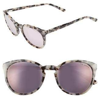 Ted Baker 53mm Round Sunglasses