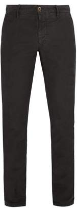 Incotex Slim Fit Cotton Blend Chino Trousers - Mens - Grey