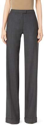 Michael Kors Wide-Leg Stretch-Wool Pants