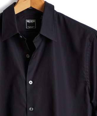 Todd Snyder Albiate Italian Royal Oxford Point Collar Shirt in Black