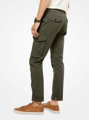 Michael Kors Cotton-Faille Cargo Pants