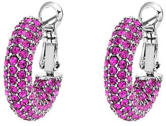 clip pageant crystal fashion fuschia earrings on