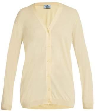 Prada V-neck fine-knit wool cardigan