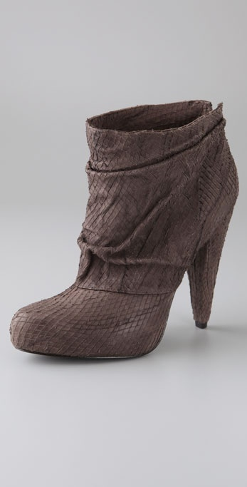 Elizabeth And James Reese Draped Snake Booties