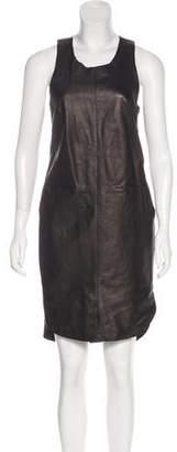 Rag & Bone Leather Knee-Length Dress