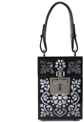 Oscar de la Renta structured cross body bag