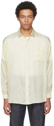 Sunnei Yellow Striped Over Shirt