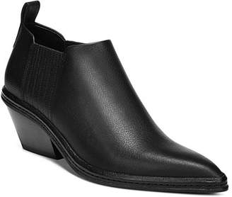 Via Spiga Women's Farly Pointed-Toe Mid-Heel Ankle Booties