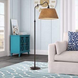 "Beachcrest Home Florance 61"" Swing Arm Floor Lamp"