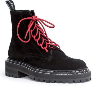 Proenza Schouler Crosta 40 black combat boots