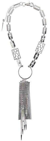 GLYNNETH B JEWELRY - Razorblade rhinestone necklace