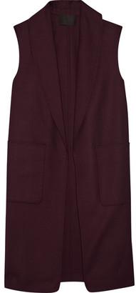 Alexander Wang - Stretch-wool Gilet - Burgundy $860 thestylecure.com