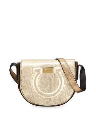 Salvatore Ferragamo Gancio City Metallic Crossbody Bag
