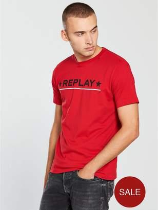 Replay Star Logo T Shirt