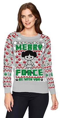 Star Wars Hybrid Apparel Wome's Leia Merry Force Holiday Sweater