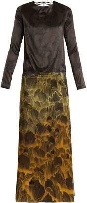 ADRIANA IGLESIAS Mermaid Soho floral-print stretch-silk gown