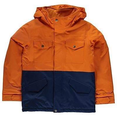 Fray Jacket Junior Boys Hooded Chest Pockets Lightweight Top
