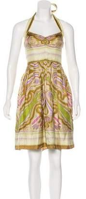 Nicole Miller Printed Knee-Length Dress