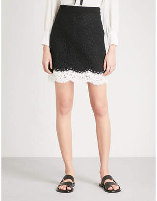 Claudie Pierlot Floral-lace mini skirt