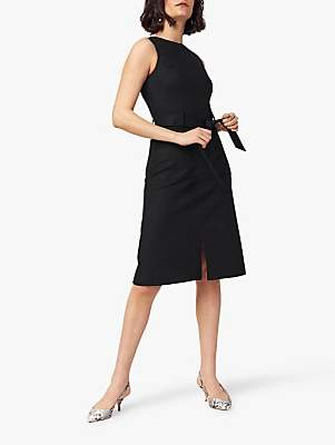 Oasis Tie Waist Dress, Black