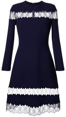 Huishan Zhang sheer lace panel flared dress