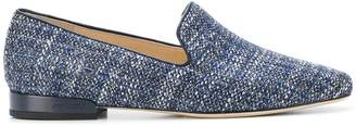 Jimmy Choo Jaida flat tweed slippers