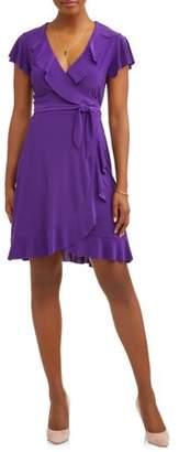 MIK Women's Ruffle Wrap Dress