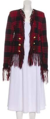 Balmain Tartan Tweed Jacket