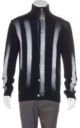 Dolce & Gabbana Knit Intarsia Striped Cardigan