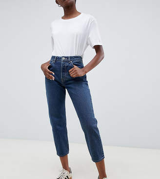Asos DESIGN Petite Recycled Florence authentic straight leg jeans in london blue wash
