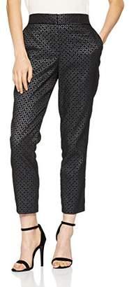 Wallis Petite Women's Geo Metallic Trousers,(42 EU)