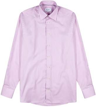 Eton Pink Contemporary Twill Shirt