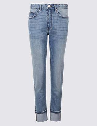 Marks and Spencer PETITE Mid Rise Relaxed Slim Jeans