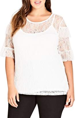 City Chic Lace Power Top