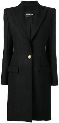 Balmain single-breasted coat