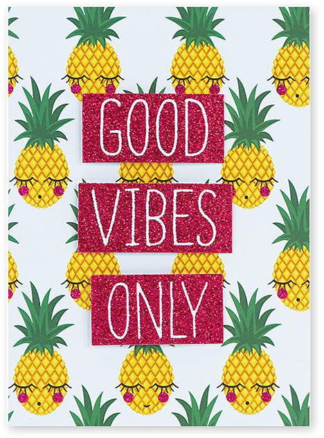 Pineapple Vibes Greeting Card - Set of Six