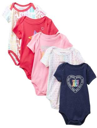 Juicy Couture Rainbow Bodysuits - Pack of 5 (Baby Girls)