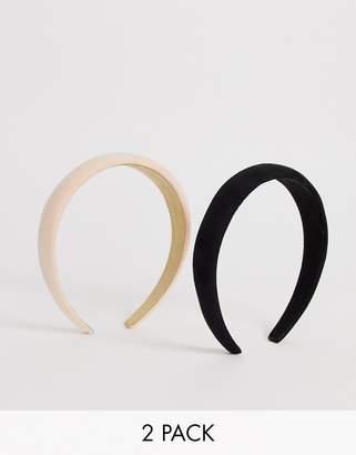 New Look 2 pack padded headbands in multi