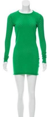 Acne Studios Long Sleeve Mesh Mini Dress