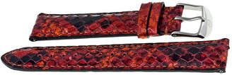 Michele Red Multi Embossed Fashion Leather 18 mm Watch band Strap