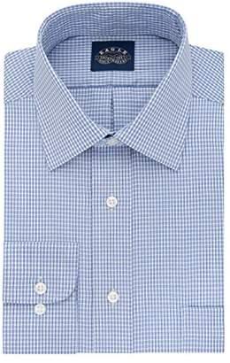 Eagle Men's Tall Size Non Iron Stretch Collar Check Spread Collar Dress Shirt
