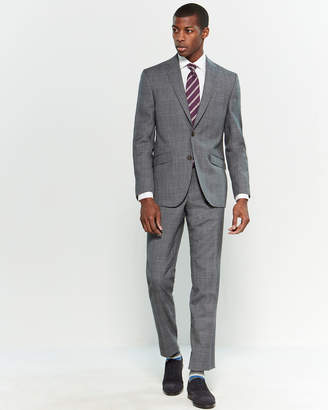 Ted Baker Two-Piece Black & Grey Glen Check Suit
