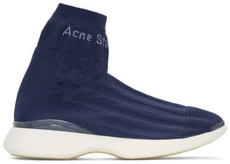 Acne Studios Blue Tristian High-Top Sneakers