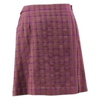 Alaia Purple Wool Skirts