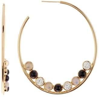 Jules Smith Designs Round Stone Hoop Earrings
