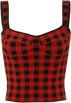 Ronny Kobo Jadie Gingham Crop Top