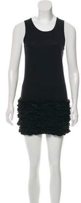 Stella McCartney Ruffle-Trimmed Mini Dress Black Ruffle-Trimmed Mini Dress