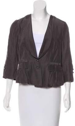 Robert Rodriguez Woven Button-Up Blazer