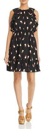 Kate Spade Ruffled Pineapple Dress