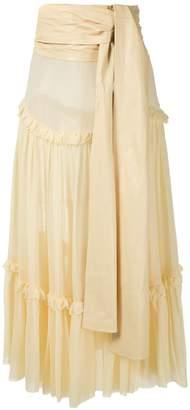 Couture Andrea Bogosian Paraty silk midi skirt